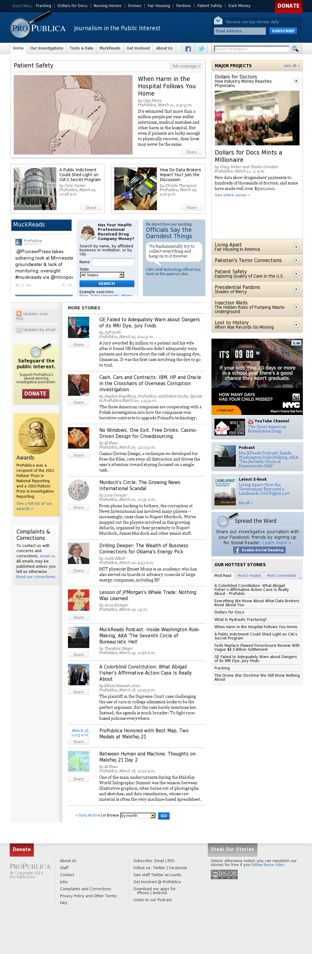 ProPublica at Monday March 25, 2013, 7:36 a.m. UTC