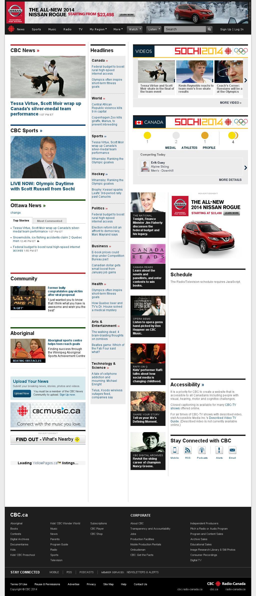 CBC at Sunday Feb. 9, 2014, 7:02 p.m. UTC