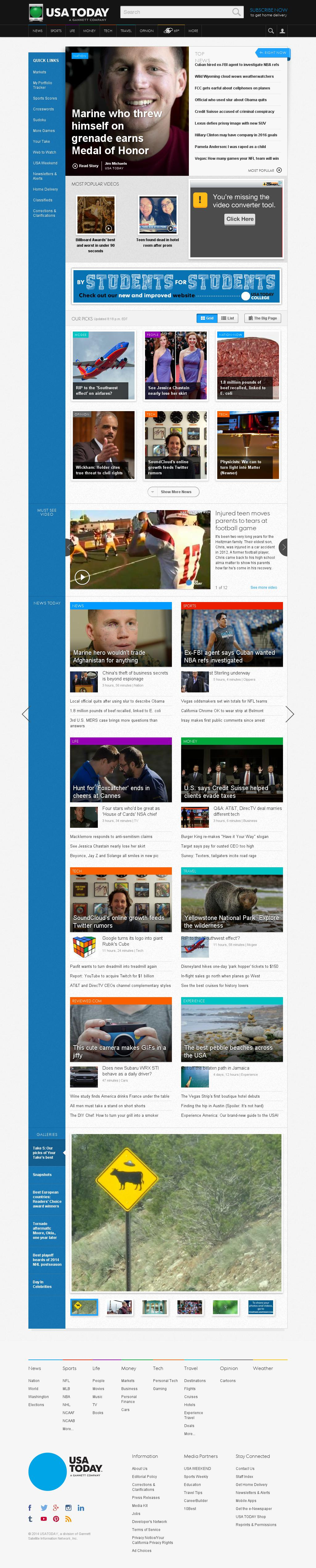 USA Today at Tuesday May 20, 2014, 12:24 a.m. UTC