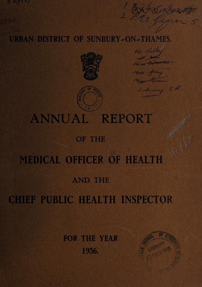 [Report 1956] by Sunbury (England). Urban District Council