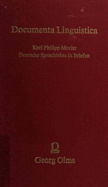 Deutsche Sprachlehre in Briefen by Karl Philipp Moritz