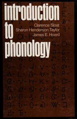Cover of: Introduction to phonology | Clarence Sloat