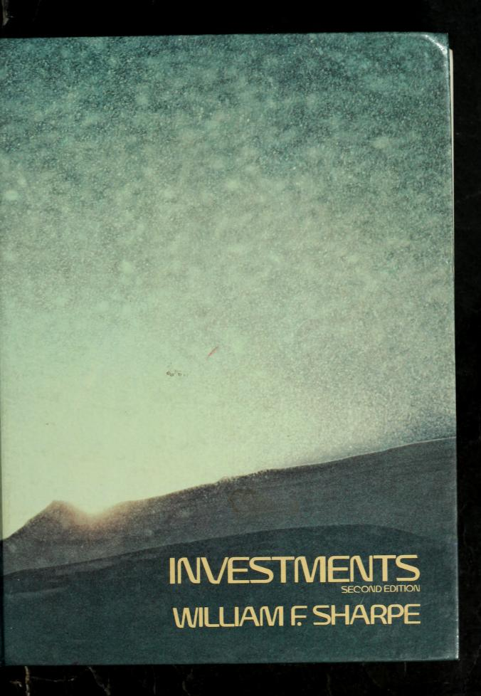 Investments by WilliamF Sharpe