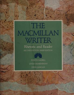 Cover of: The Macmillan writer | Judith Nadell